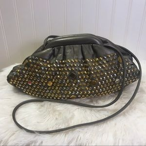 Vintage Atalla Leather Studded Shoulder Bag Funky